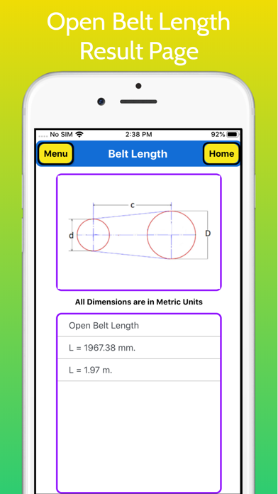Belt Length Calculator screenshot 5