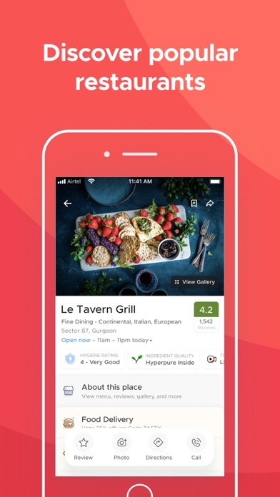 Screenshot for Zomato in Spain App Store