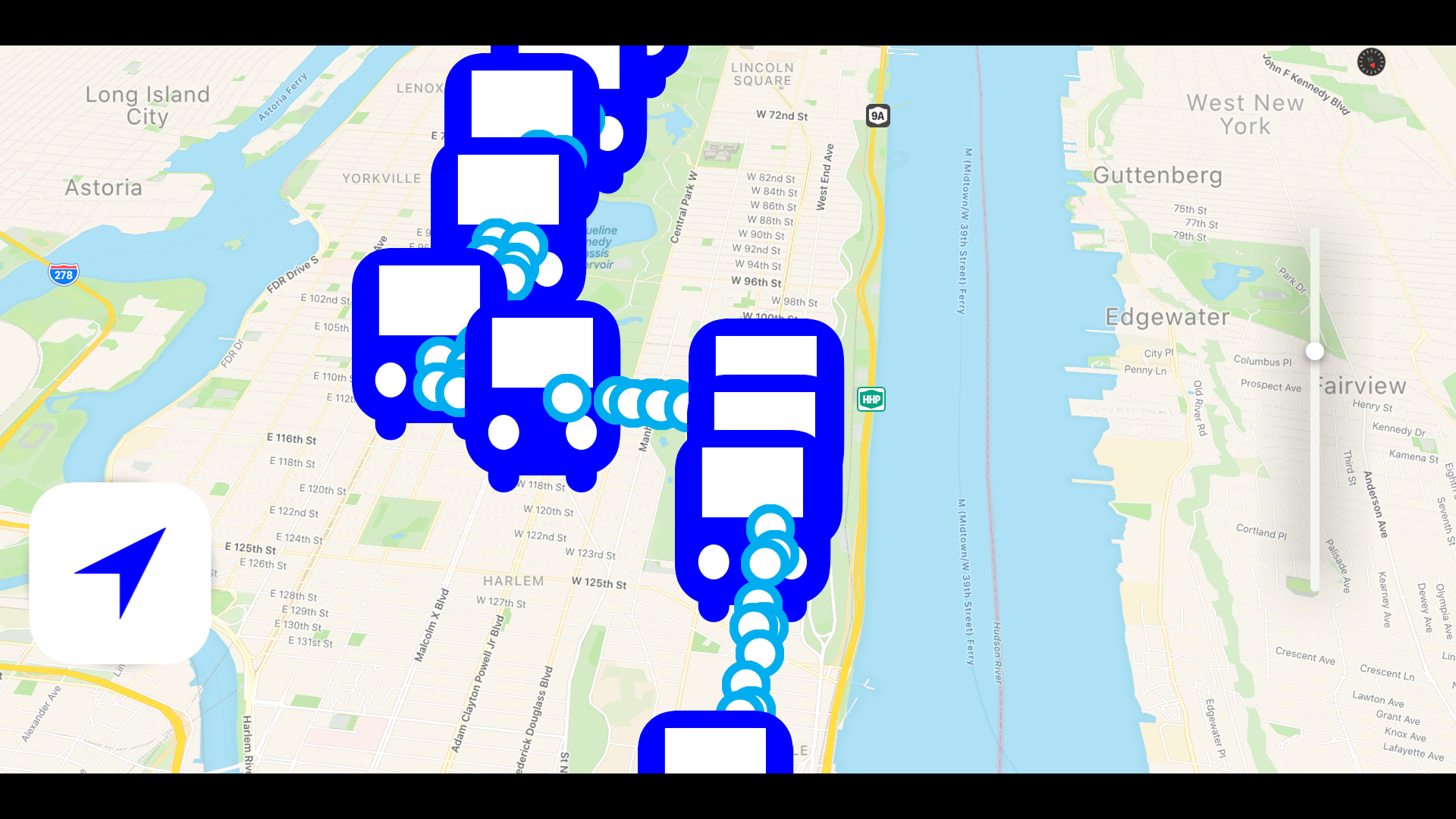 Bus NYC in 3D City View Lite screenshot 15