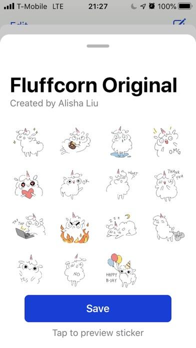 Fluffcorn Stickers