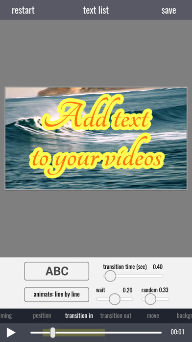 Video Text Editor screenshot one