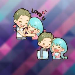 Chibi Cutest Couple Stickers