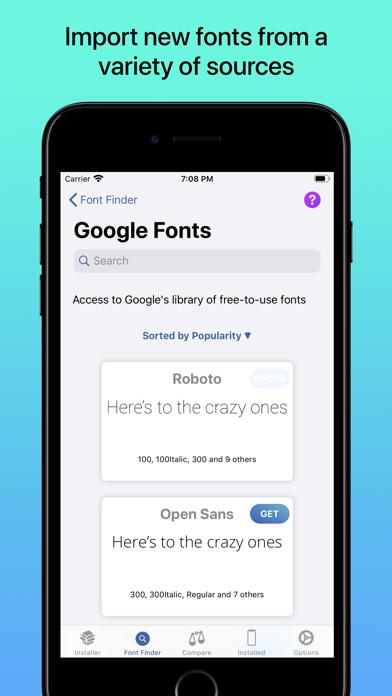 iFont: find, install any font screenshot three