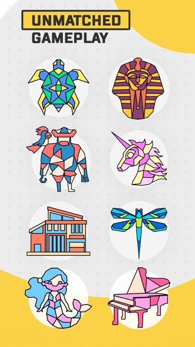 Trio - Polygon Coloring Puzzle screenshot 4