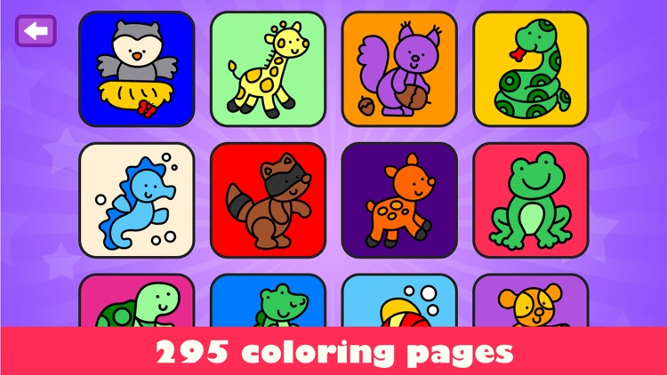 Drawing for kids: colour games