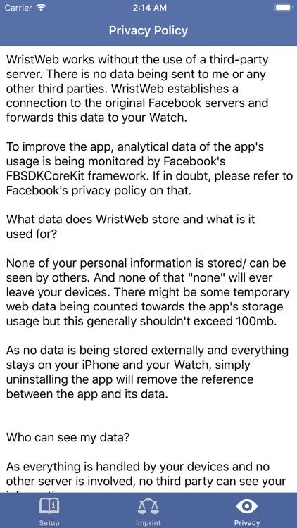 WristWeb for Facebook screenshot-3