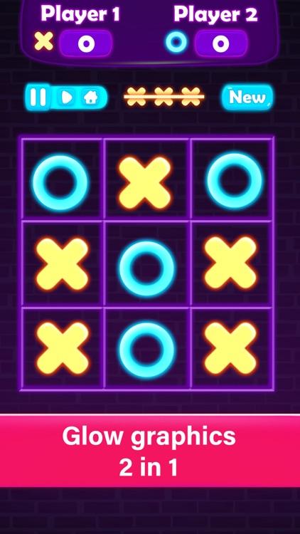 Tic Tac Toe Glow XOXO - Gomoku