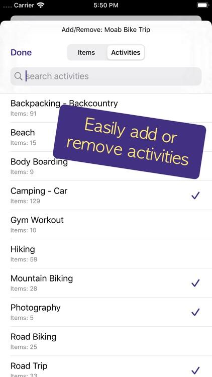 PackCheck Packing List screenshot-5