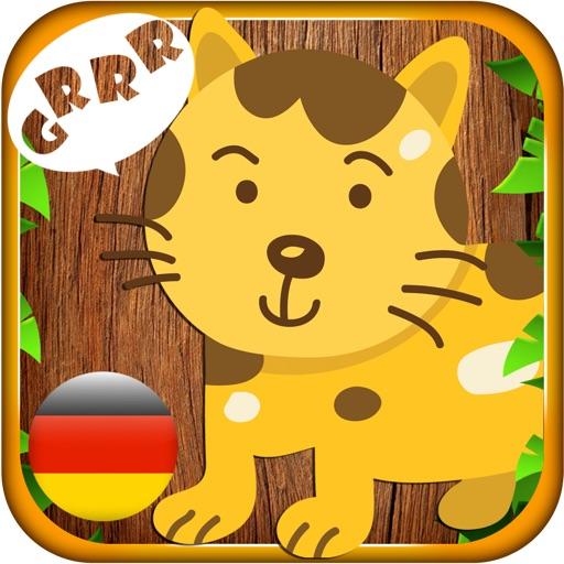 Tier Klang in Deutsch - Kid learns animal sound and name in German iOS App