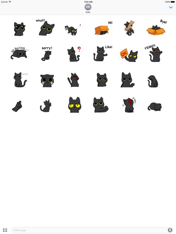 Animated Grumpy Black Cat screenshot 5