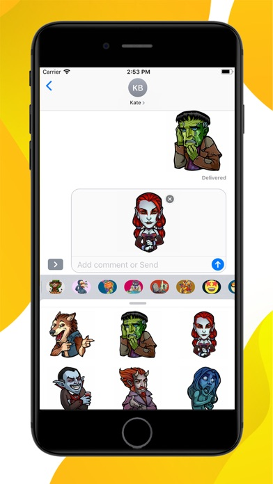 Screenshot for Myths and Legends Stickers in United States App Store