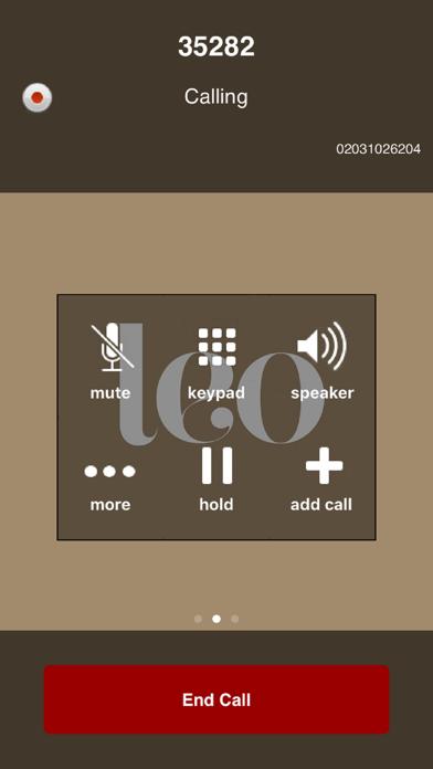 The Argyll Club Softphone screenshot two