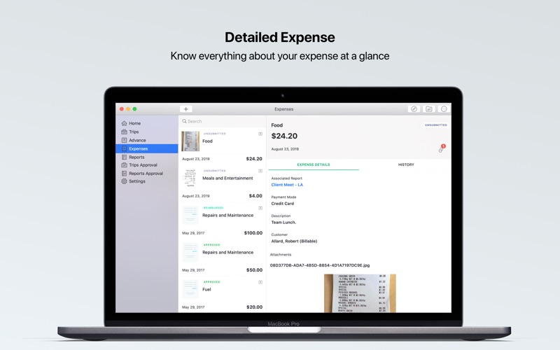 Zoho Expense for Mac