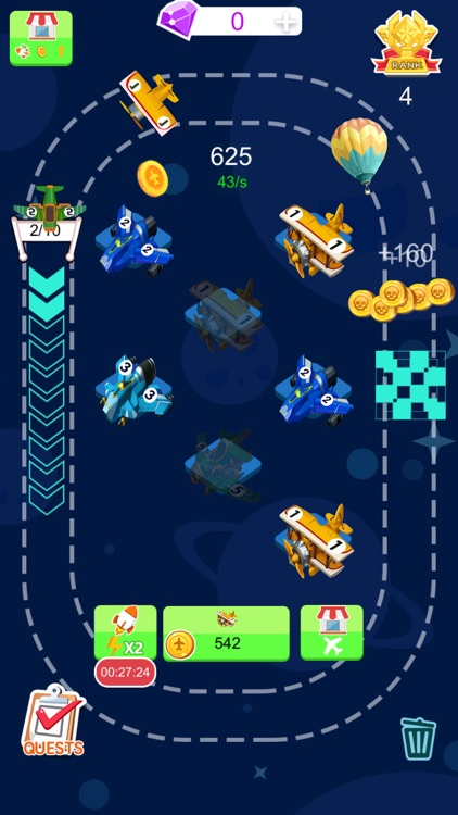 Tiny Plane - 2048 Coins Tycoon screenshot-2