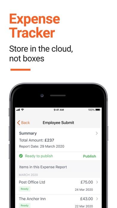 Receipt Bank review screenshots