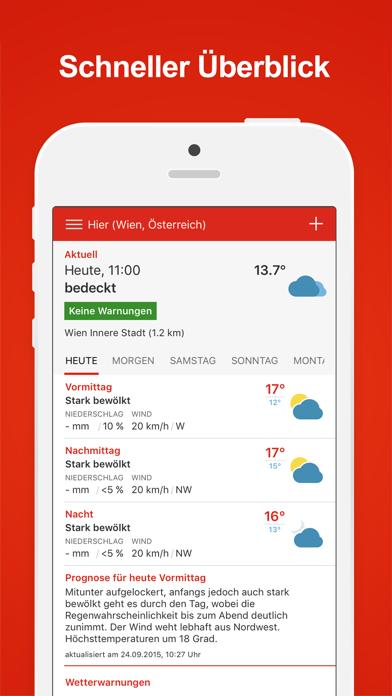 Wiener Städtische Wetter Plus screenshot one