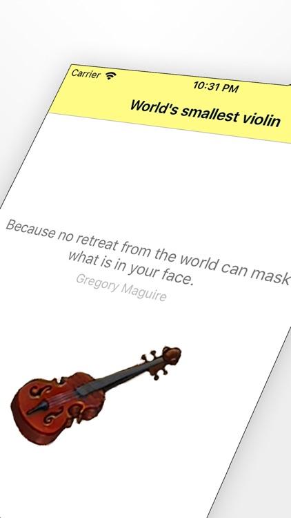 Worlds smallest violin ™