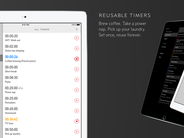 ‎Due - Reminders & Timers Screenshot