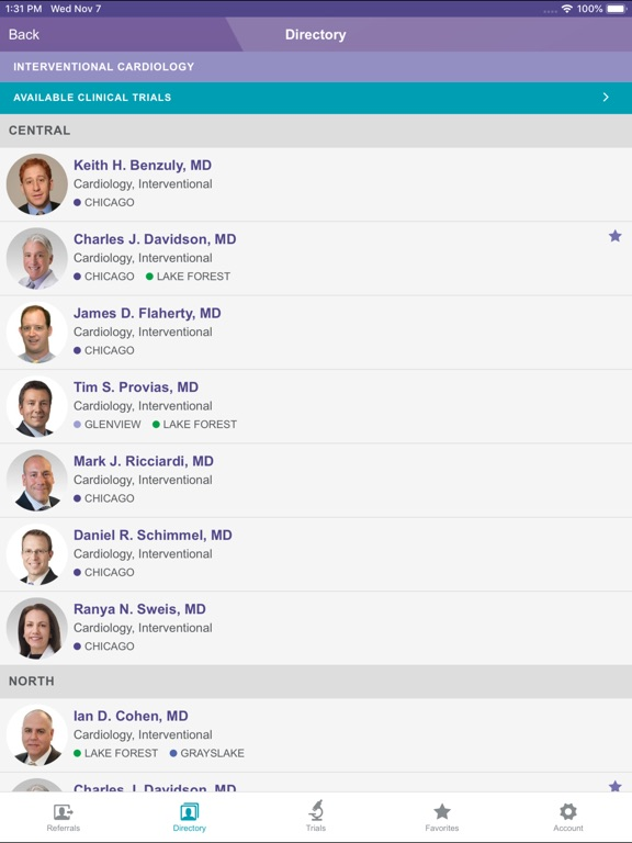 Image of NM Cardiovascular MD Referral for iPad