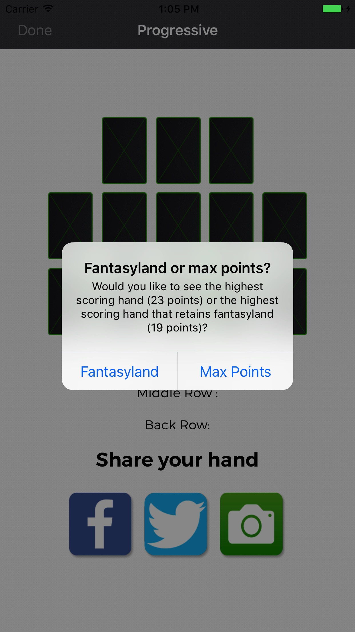 OFC Fantasyland Calculator Screenshot