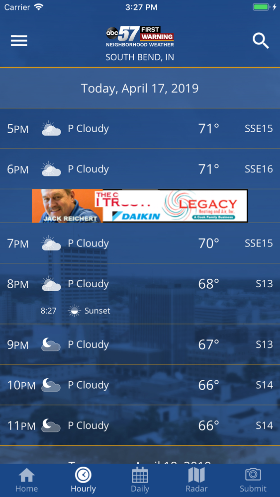 ABC 57 Weather App for iPhone - Free Download ABC 57 Weather for