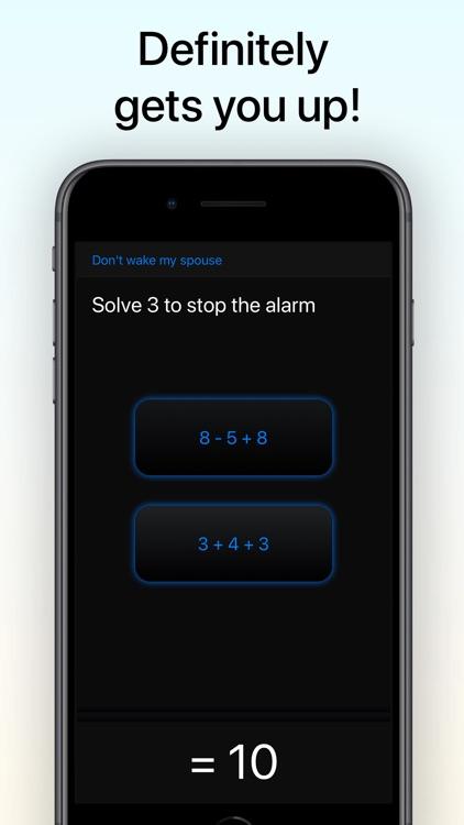 My Math Alarm Clock