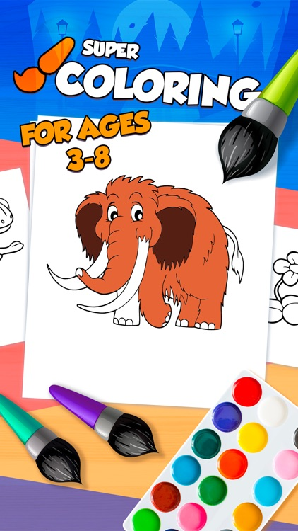 Kids Coloring Book Baby Learn