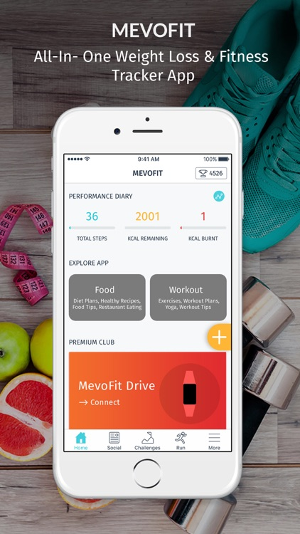 MevoFit: Weight Loss & Fitness screenshot-0