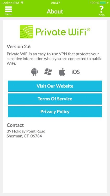 Private WiFi™ Mobile for AOL screenshot-4