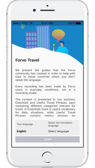 Forvo Travel Screenshots