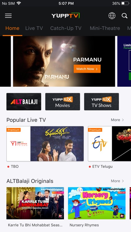 live tv and movies app