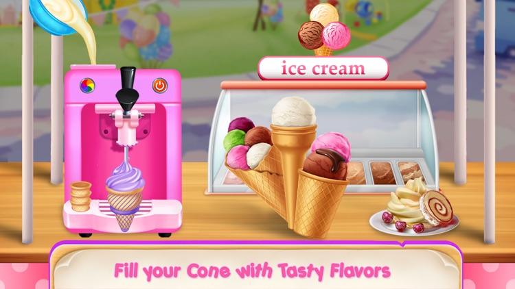 Ice Cream Cupcake Waffle Cone