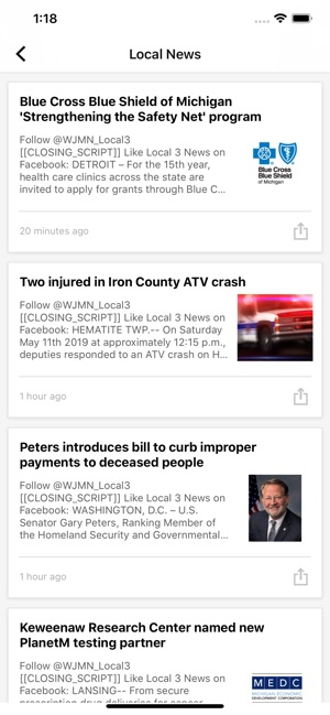 WJMN News Channel 3 UPMatters on the App Store