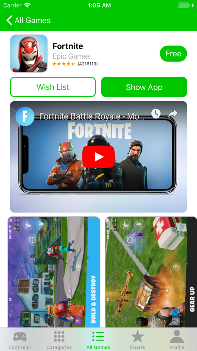 Game Controller Apps Screenshot