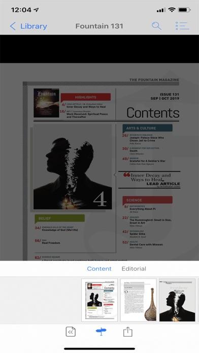 Fountain magazine Screenshot