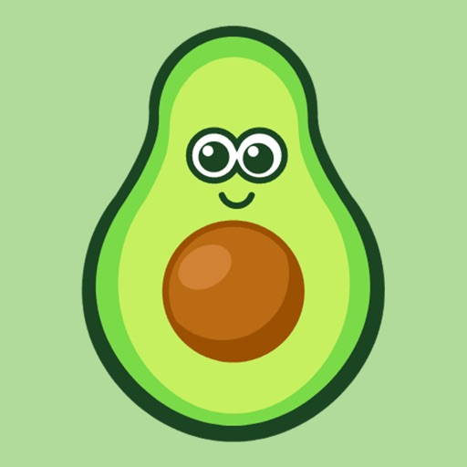 Avocado stickers for iMessage icon