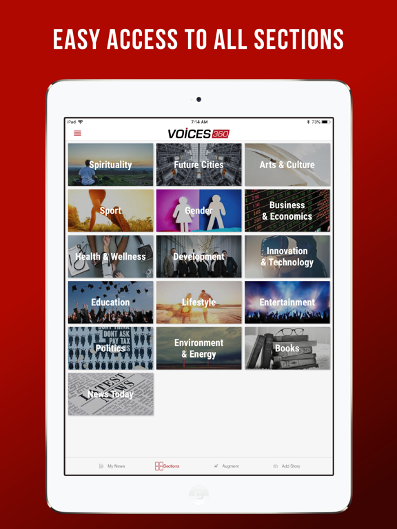 iPad Image of Voices360