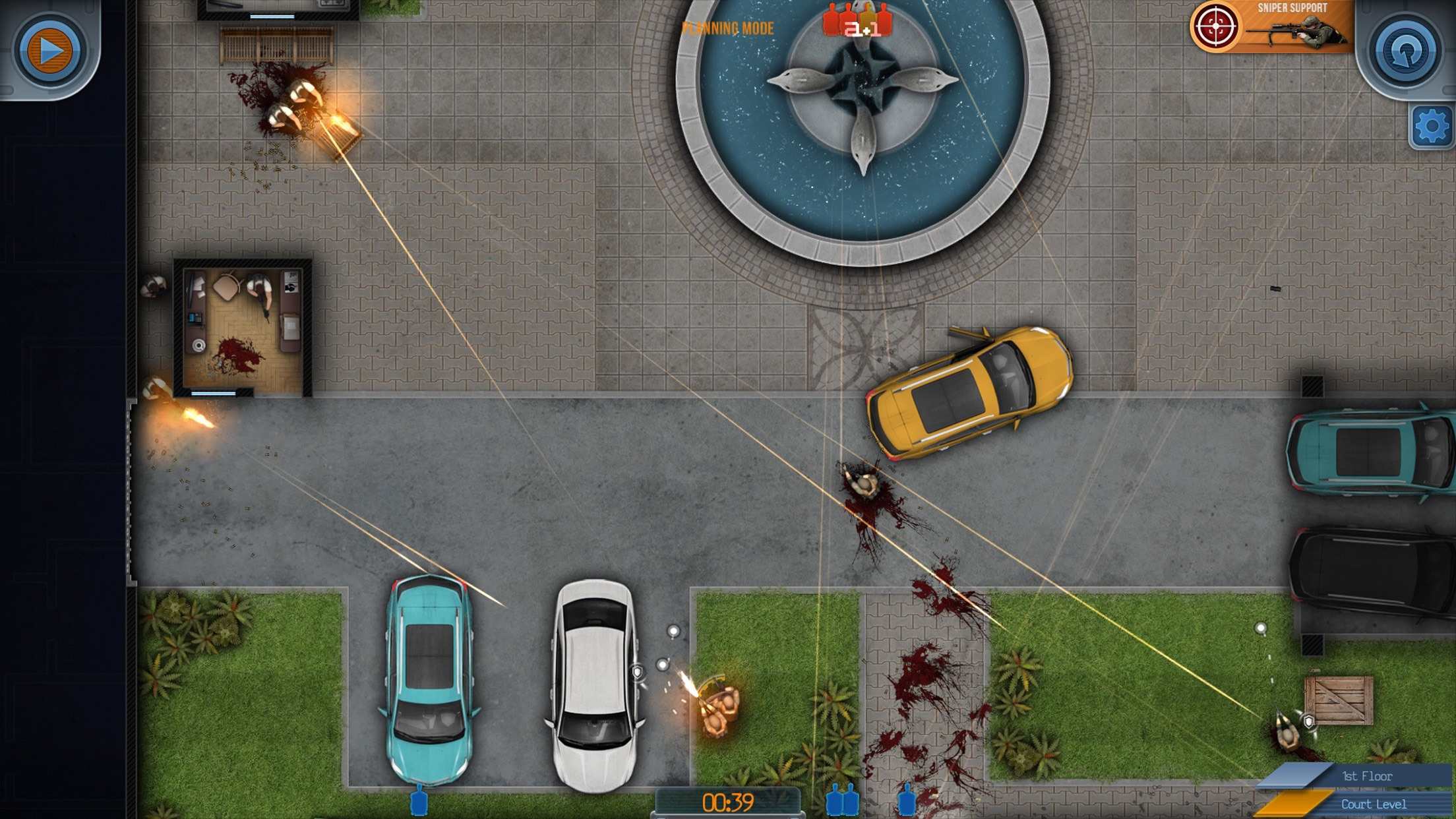 Screenshot do app Door Kickers
