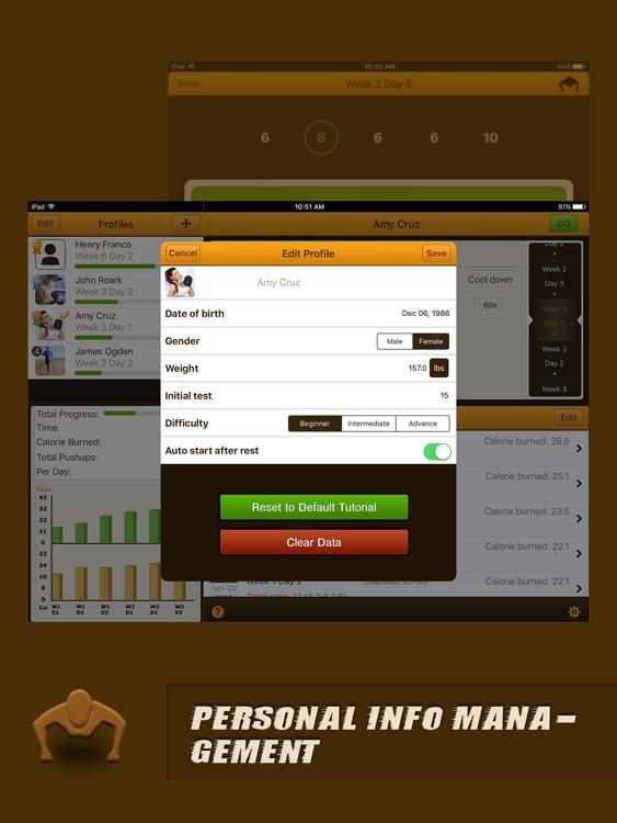 Pushups Coach Pro for iPad screenshot-4