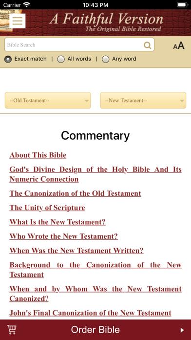 A Faithful Version BibleScreenshot of 5
