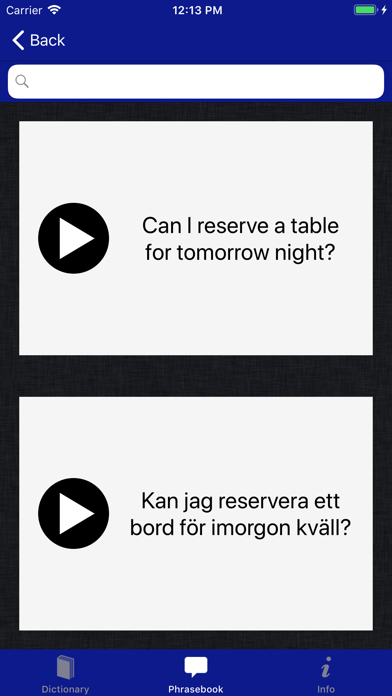 Accio Swedish-English screenshot three