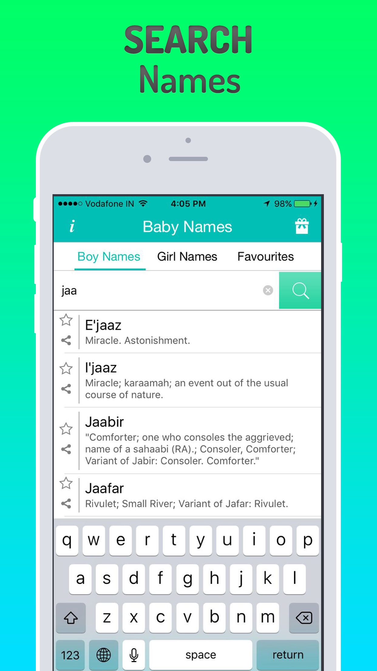 Muslim Baby Names Plus Screenshot