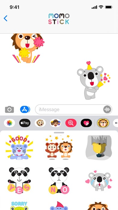 MOMO Friends Stickers Screenshot