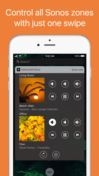 SonoControls: Widget for Sonos Screenshots