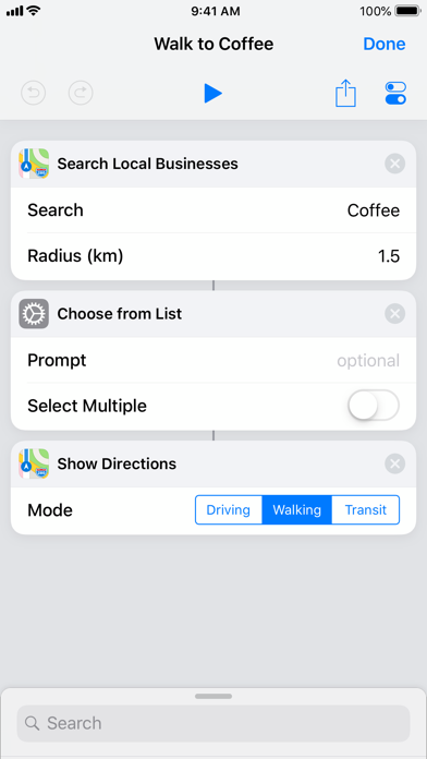 Shortcuts Screenshot