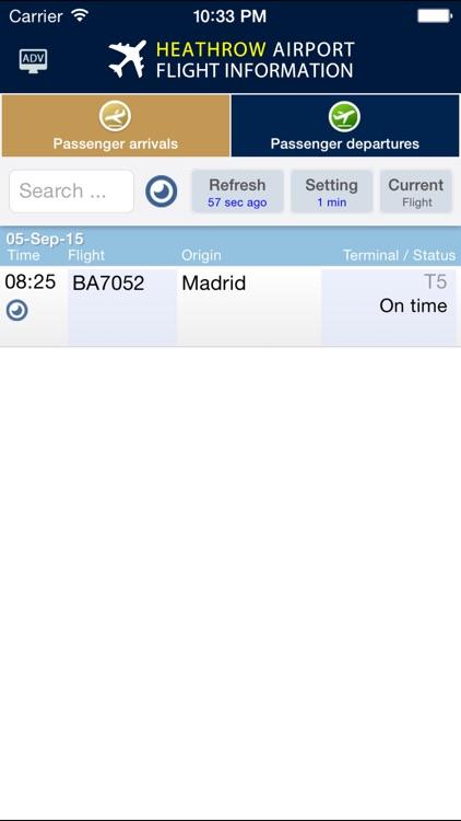 Heathrow Flight Info. screenshot-3