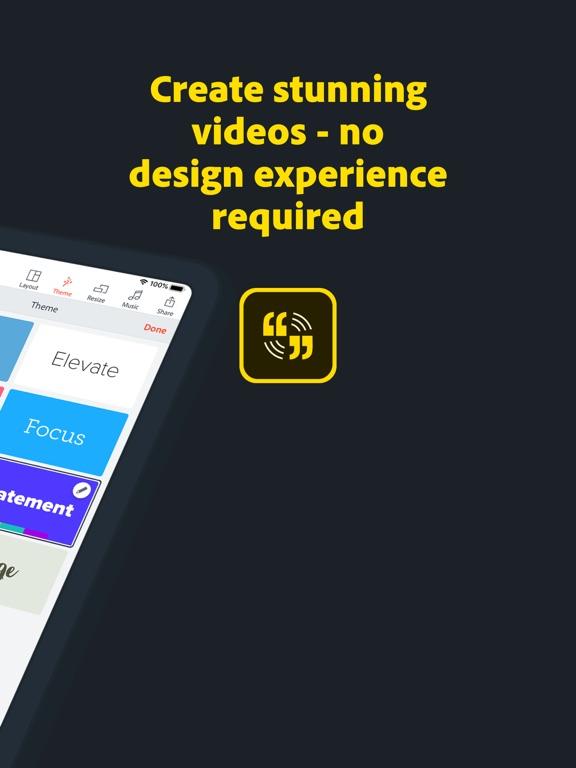 Adobe Spark Video Screenshot 1