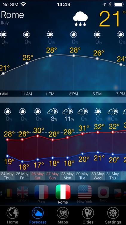 3D Earth - weather widget screenshot-3