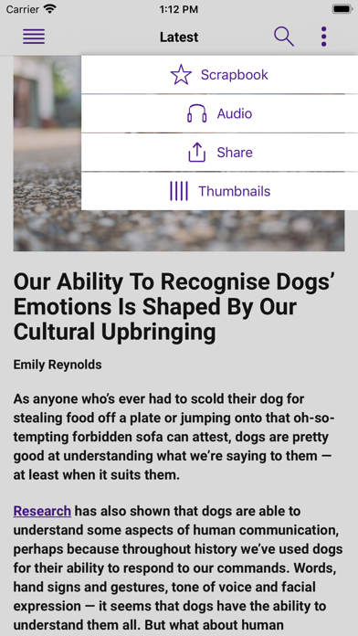 Research Digest screenshot four