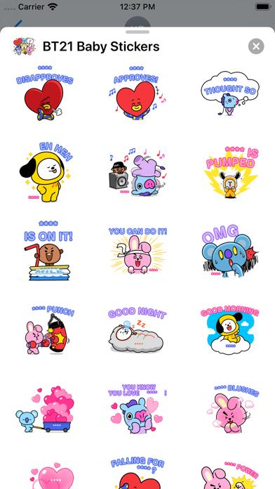 BT21 Baby Stickers screenshot 2